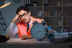 Sypialny architekt po opóźnionych długich godzin Zdjęcie Royalty Free