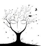 Sypialny drzewny duch ilustracji