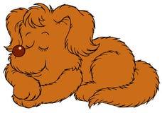 Sypialny pies royalty ilustracja