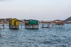 Sypsea-Haus auf dem Meer Stockfotografie