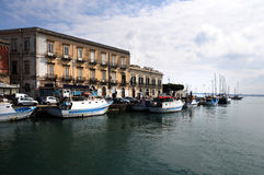 Syracuse. In the harbor of Syracuse, Sicily Stock Photo
