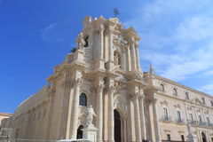 Syracuse Cathedral exterior. Architectural details of Syracuse Cathedral exterior, Syracuse, Sicily, Italy Stock Photo