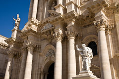 Syracuse cathedral, Sicily Stock Photography
