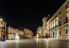 Syracuse Sicily, cathedral square Royalty Free Stock Photos