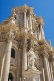 Syracuse domkyrka, Sicilien, Italien Arkivbilder