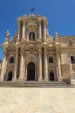 Syracuse domkyrka, Sicilien, Italien Arkivfoto