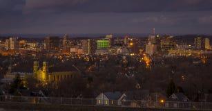 Syracuse i stadens centrum New York Arkivfoto