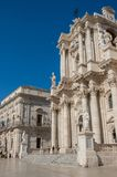 Baroque style Cathedral in piazza Duomo. Ortiga island, Syracuse Royalty Free Stock Images