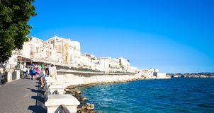 Ortigia view during a summer day Royalty Free Stock Photo