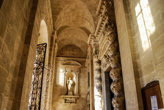SYRACUSE, ITALY - October 06, 2012: Interior of Santa Lucia Cathedral Stock Photos
