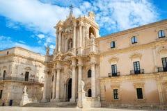 Syracuse katedralny Sycylia włochy zdjęcia stock