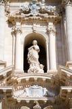 Syracuse, les détails de Duomo Images libres de droits