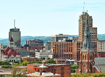 Syracuse, new york. View of the city of syracuse in upstate new york Royalty Free Stock Photos