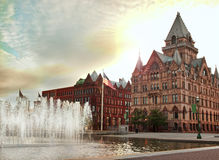 Syracuse, New York. View of Clinton Square in Syracuse , New York at sunrise Stock Photo