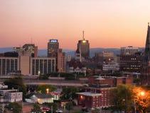 Syracuse på skymning Arkivbilder