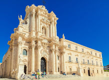 Syracuse's Duomo at Sicily Royalty Free Stock Photography