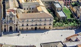 Syracuse Sicile Grand dos de cathédrale Image libre de droits