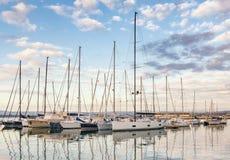 Syracuse Sicile - port de voiliers Photo stock