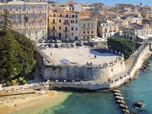 Syracuse Sicilien, stor fyrkant Aretusa arkivfoton