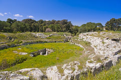 Syracuse Sicily roman arena Royalty Free Stock Photo