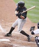 Syracuse Skychiefs' Michael Aubrey. Takes a big swing at a pitch Stock Photos
