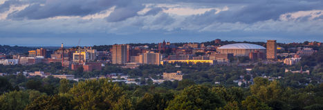 Syracuse University Hill New York Sunset Stock Photos