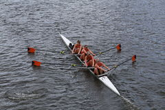 Syracuse University races in the Head of Charles Regatta women's Championship Fours Royalty Free Stock Images