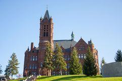 Syracuse University, Syracuse, New York, USA. John Crouse memorial College in Syracuse University, Syracuse, New York State, USA. This Romanesque building, built stock photos
