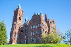 Syracuse University, Syracuse, New York, USA. John Crouse memorial College in Syracuse University, Syracuse, New York State, USA. This Romanesque building, built Stock Images