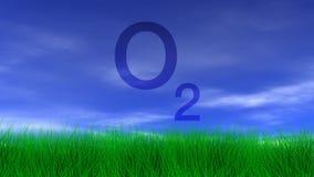 Syre, grönt gräs & blå himmel vektor illustrationer