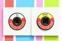 Syre och vakuumuttag fotografering för bildbyråer