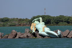 Syrenka i linia horyzontu Petrolina i Juazeiro w Brazylia fotografia royalty free