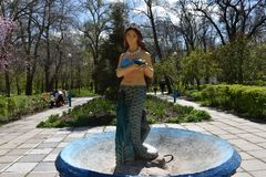 Syrenka jest symbolem miejski park Melitopol Obraz Stock