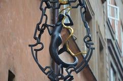 Syrenka z złocistym wężem zdjęcia stock