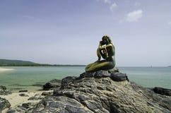 Syrenki rzeźba w Songkhla, Tajlandia Obrazy Royalty Free