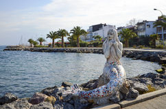 Syrenki statua na wyspie Buyukada Obraz Stock