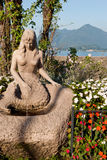 Syrenki statua, Stresa, Lago Maggiore Fotografia Royalty Free