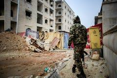 Syrië: Al-Qaeda in Aleppo royalty-vrije stock fotografie