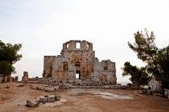 Syrië - Kerk van St. Simeon - Qal'a Sim'an Royalty-vrije Stock Foto's