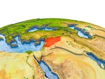 Syrië op model van Aarde Stock Afbeelding