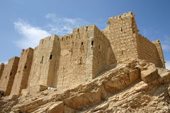 Syria. Castle in Palmyra Stock Image