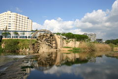 Syria. Water-wheel in hama Stock Photos