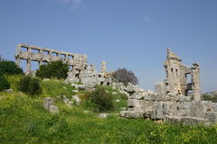 Syria. Ruins of Simeon Abbey Stock Images