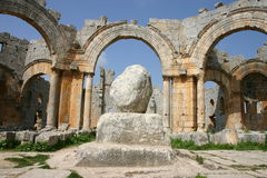 Syria. Ruins of Simeonis-Abbey Royalty Free Stock Photography