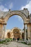 Syria. Ruins of Simeon Abbey Stock Photos