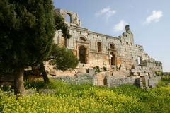 Syria. Ruins of a syrian abbey Royalty Free Stock Photo