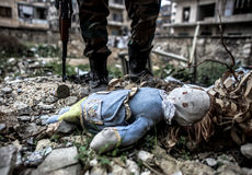 Syria : Al-Qaeda in Aleppo Stock Photo