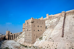 Syria - Aleppo citadel Royalty Free Stock Photography
