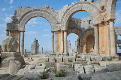 Syria, Basilica of St Simeon stock image