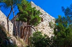 Syria - castelo de Saladin (ruído do anúncio de Qala'at Salah) Fotos de Stock Royalty Free